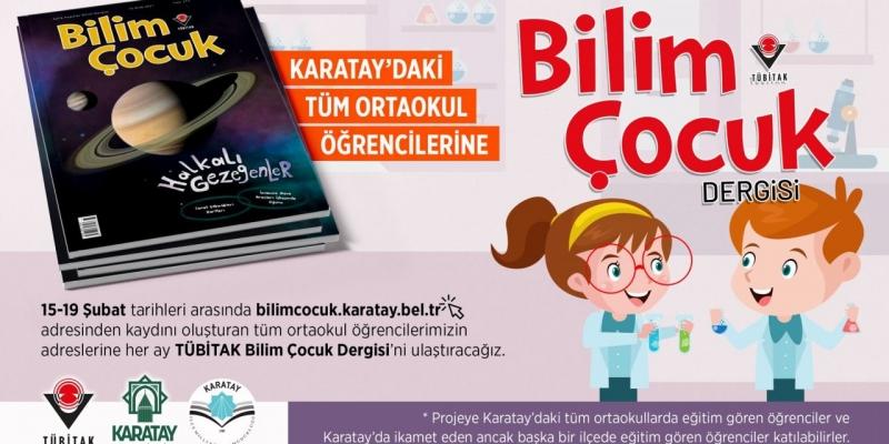 Karatay Belediyesinden ortaokul öğrencilerine TÜBİTAK dergisi