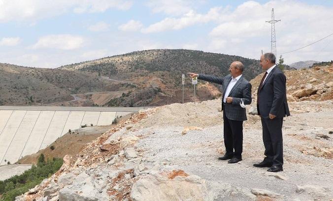 Vali Özkan, Bozkır Barajına İncelemelerde Bulundu